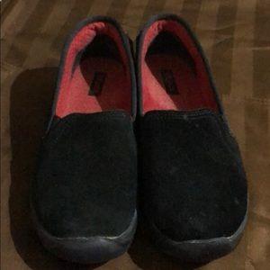 Crocs Black Suede Loafers VGUC